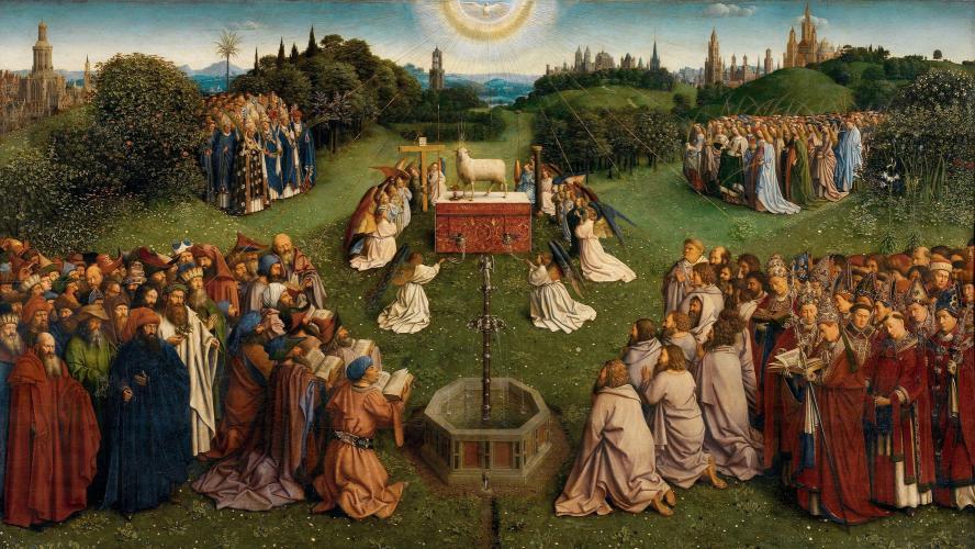В Гентском алтаре восстановили изображение Агнца. Он оказался довольно пугающим
