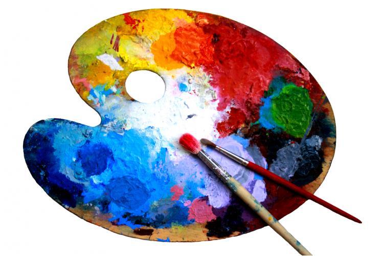 Палитра. Размещение красок. Цветовая гамма
