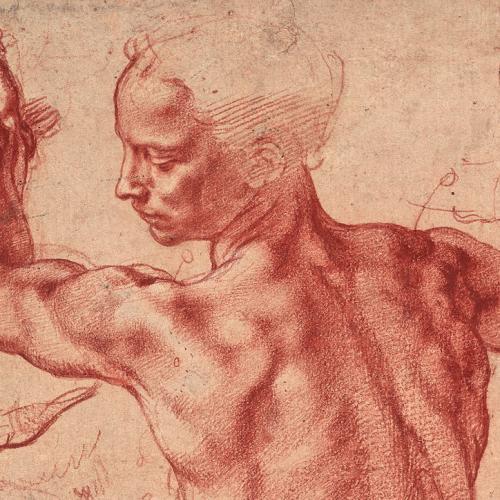 Сангина рисование красными мелками