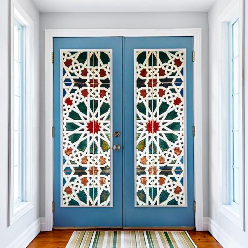 Декор дверей своими руками: лучшие способы обновить дверное полотно в домашних условиях