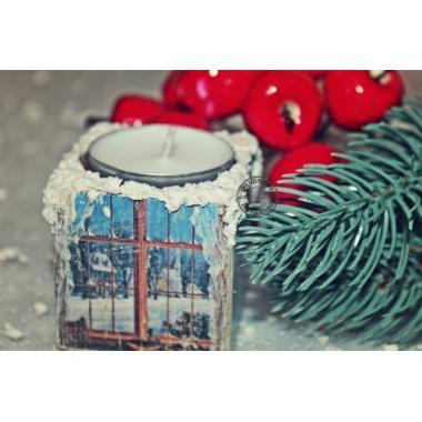 Подсвечник Рождественское окошко