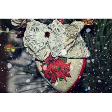 Новогодняя игрушка Сердце