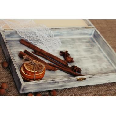 Шкатулка со стеклом для чая Подсолнухи