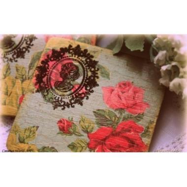 """Подставки  для чая """"Винтажные розы"""""""