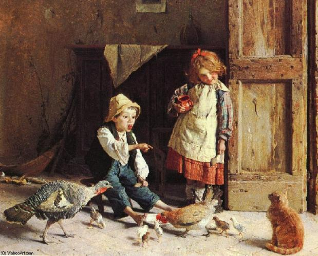 Мир детства XIX века на картинах Гаэтано Чиерици, за которые сегодня выкладывают баснословные суммы на аукционах