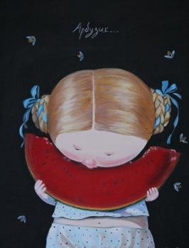 Арбузик копия картины Гапчинской