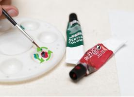 Как разбавить акриловую краску