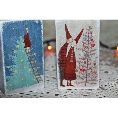 Подсвечники новогодние деревянные. Зимние подсвечники