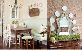 Украшаем стены тарелками – 100 фото для вдохновения