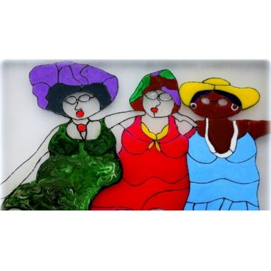 Витражная картина «Три подружки…»