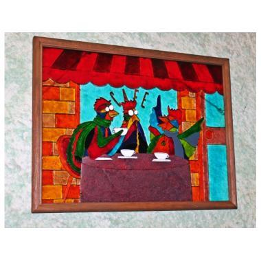 Витражная картина  «Paris cafe»
