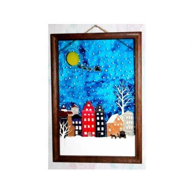 Витражная картина «Зимний Амстердам»