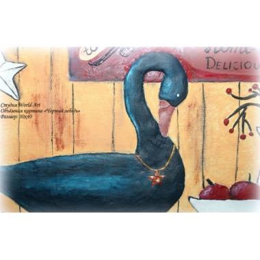 """Объёмная картина """"Черный лебедь"""""""